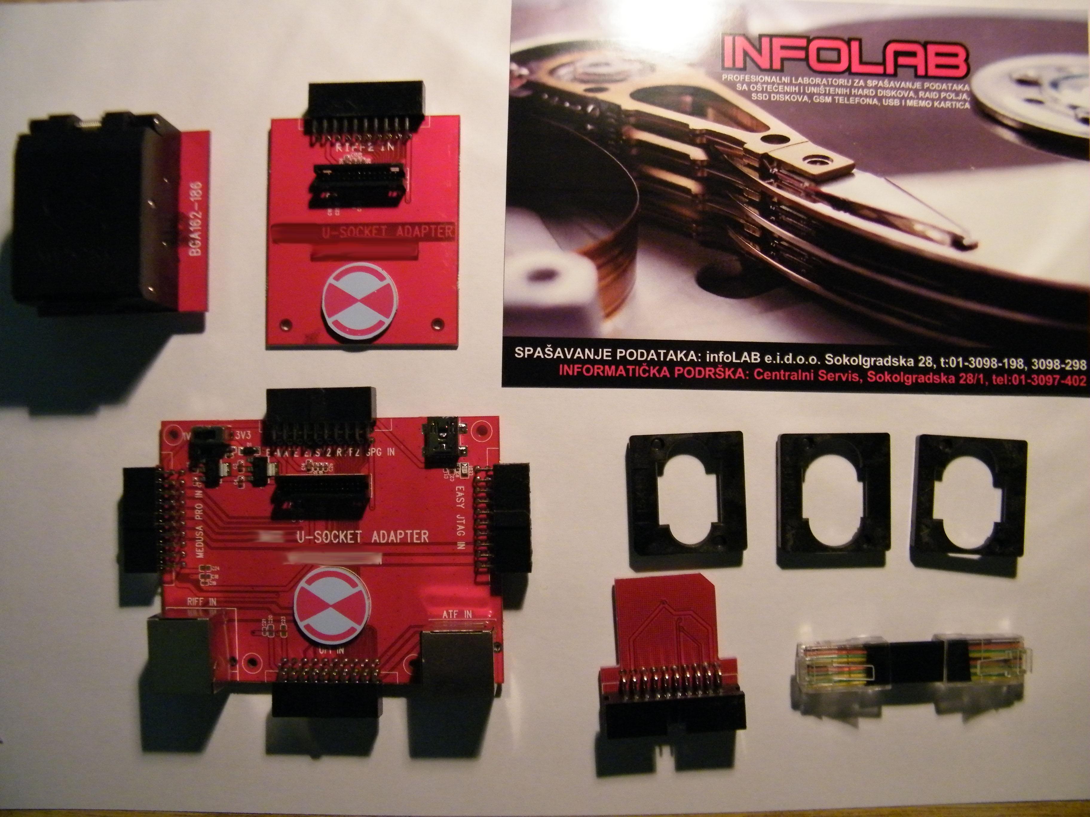 Flash chip memo adapteri